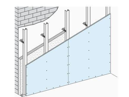 دیوارهای پوششی کناف با سازه متصل به دیوار زمینه