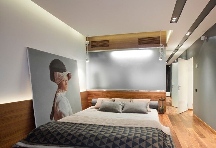 کناف روی سقف و دیوار اتاق خواب