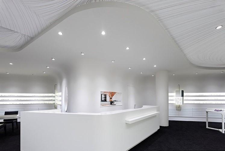 کناف روی سقف و دیوار عینک سازی
